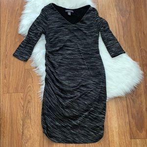 A Pea in the Pod Maternity Dress Gray Size Medium
